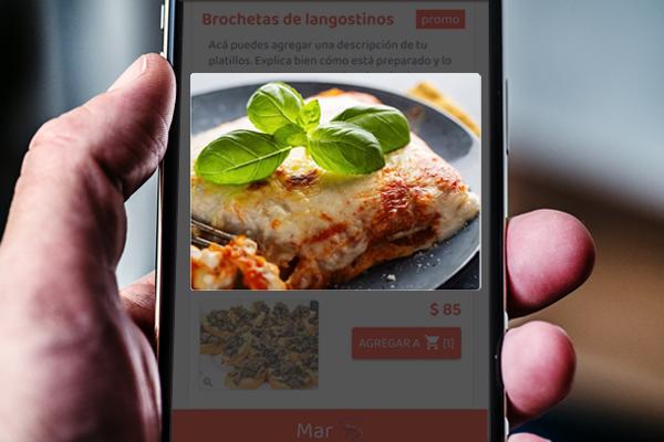 Menú digital con fotos de platillos